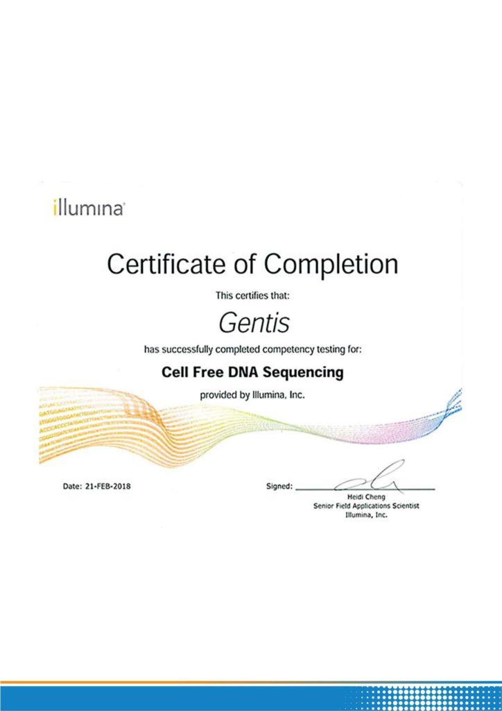 chứng nhận illumina gentis